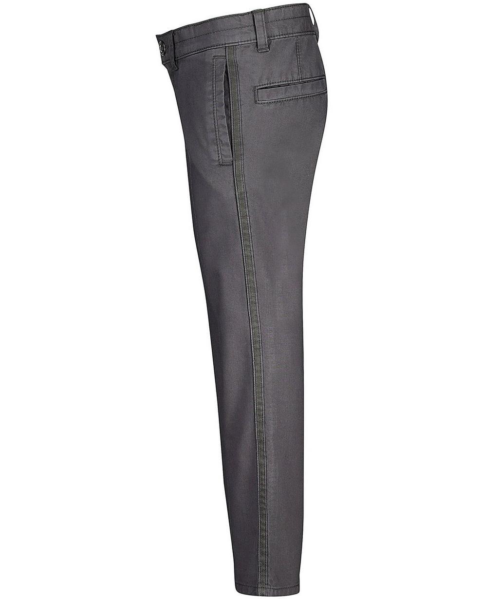 Hosen - Dunkelgrau - Hose mit Streifen